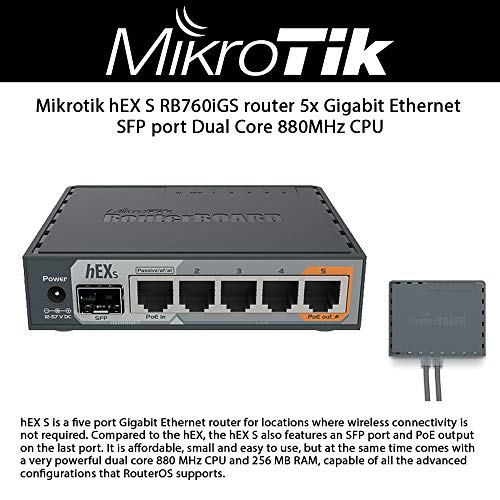 MikroTik hEX S Gigabit Ethernet Router with...