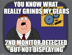 2nd monitor detected but not displaying