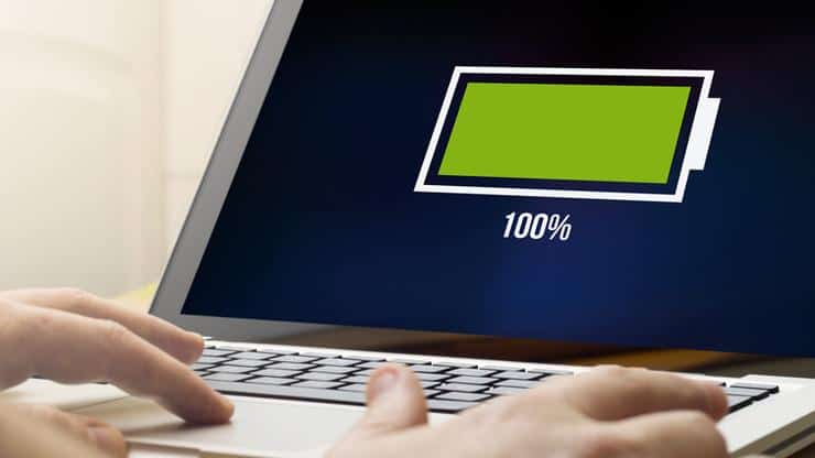 charging laptop battery
