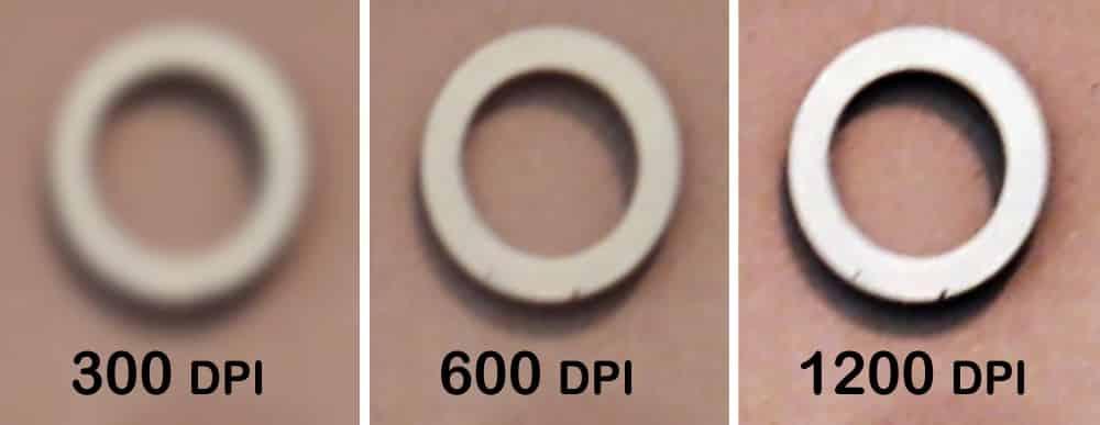 300 dpi vs 600 dpi printing