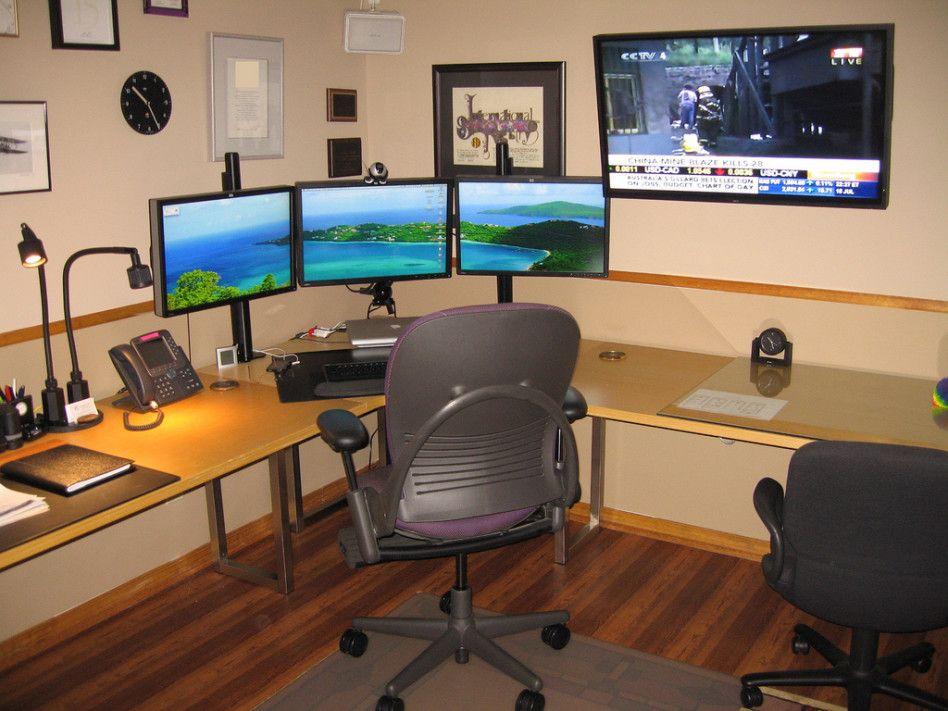 comfortable desktop setup