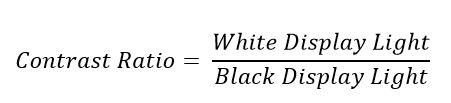 Contrast Ratio Equation 2