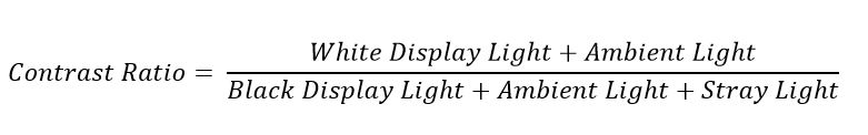 Contrast Ratio Equation Expanded