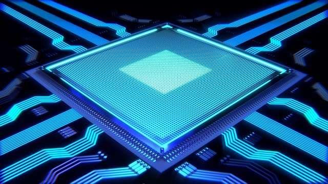 blue computer processor
